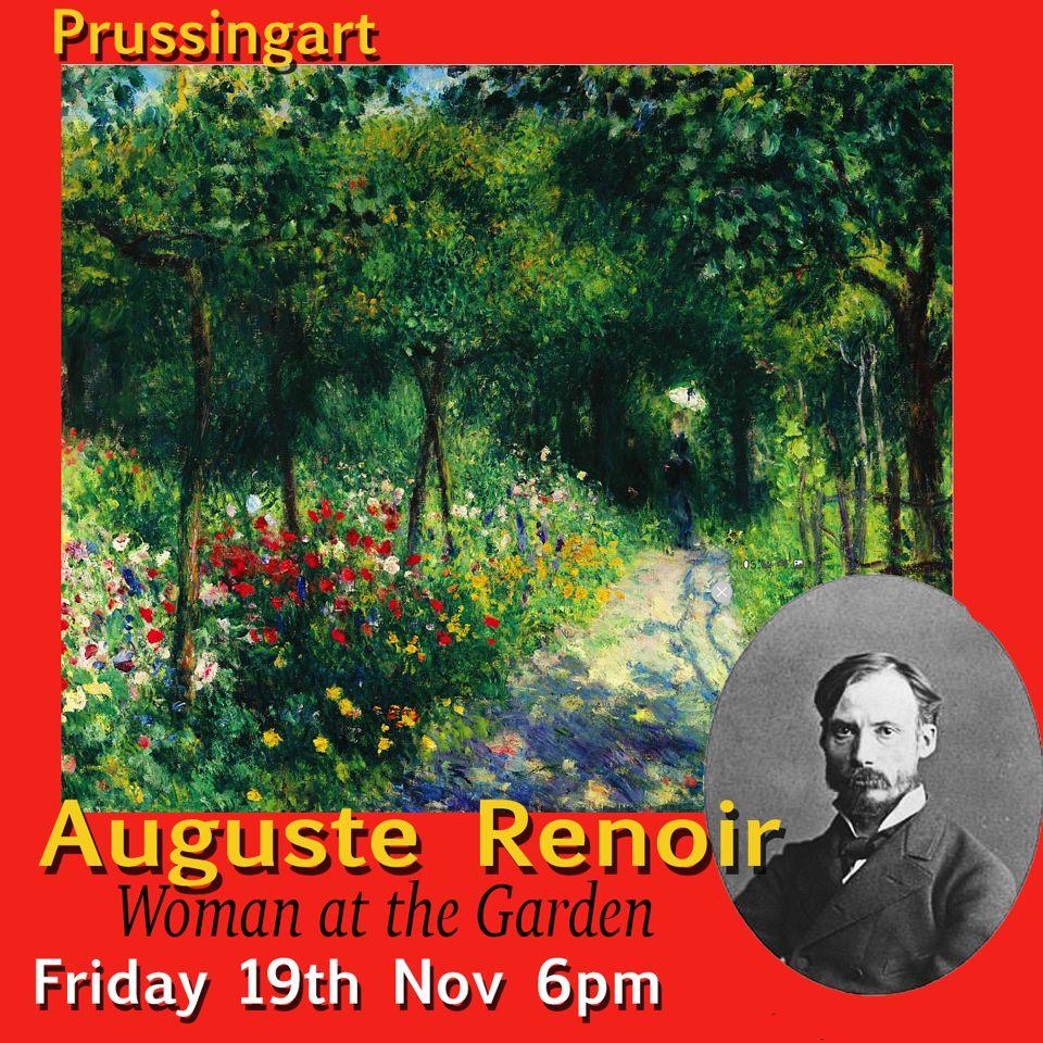 """Auguste Renoir """"Woman at the Garden"""""""